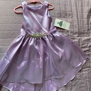 Lilac high low girls dress
